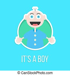 it's a boy with baby sticker