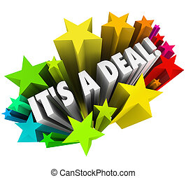 It's a Deal Fireworks Sold Contract Successful Sale
