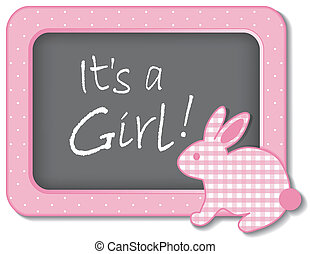 It's a Girl! Baby Bunny Rabbit - It's a Girl! Baby bunny...