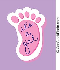 It's a Girl Baby Foot