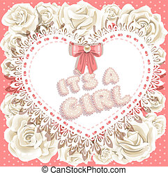 it`s a girl baby shower with roses