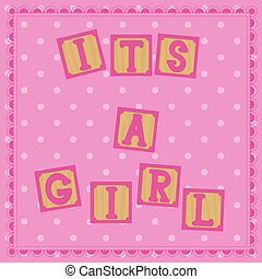 Its a girl card with cubs