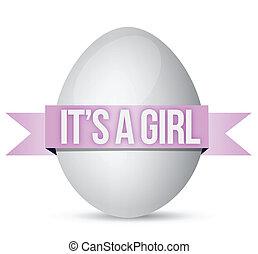 its a girl egg illustration design