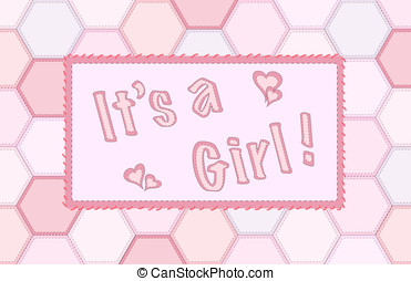 It's a girl patchwork