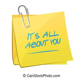 its all about you memo post message illustration design over...