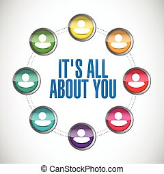 its all about you. people network. illustration design over...