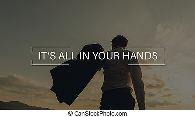 It's all in your hands sign