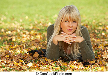 Its Autumn! - 20-25 years old beautiful sexy woman portrait...