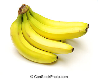 It's Bananas! - A bunch of banannas. Clipping path is ...