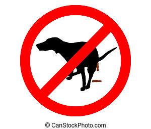 it?s, décharge, interdit, trafic, prendre, chiens, sign: