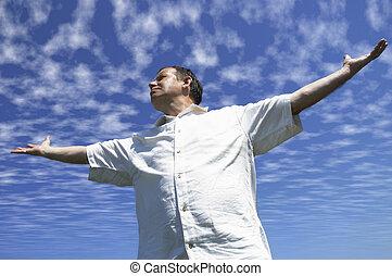 It's freedom! - happy man