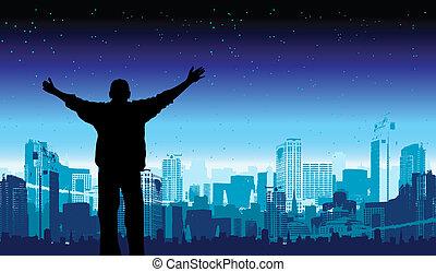 it\\\'s, mijn, stad, vector, illustratie