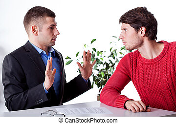 An innocent lawyer and an angry client blaming him