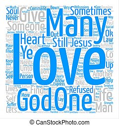 Its OK To Love text background wordcloud concept