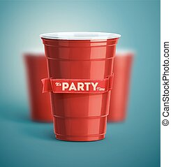 It's Party Time - Red cups, it's party time
