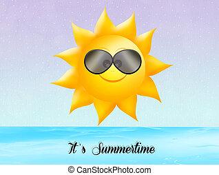 illustration of summertime