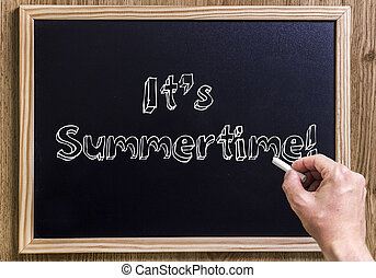 It's Summertime! - New chalkboard with 3D outlined text