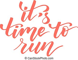 It's time to run brush calligraphy