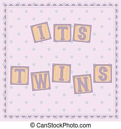 Its twins card with cubs