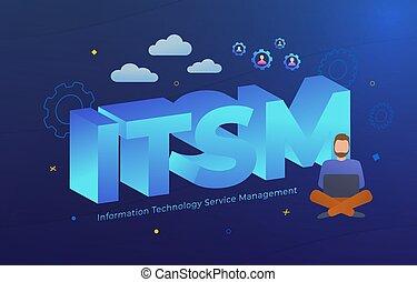 ITSM - Information Technology Service Management vector ...