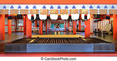 Itsukushima Shrine - Main shrine at Itsukushima, Japan.