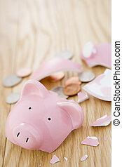 ituslået, piggy bank