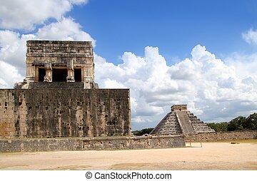 itza, chichen, ピラミッド, ジャガー, mayan, kukulkan, 寺院