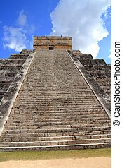 itza, chichen, ピラミッド, メキシコ\, kukulcan, mayan