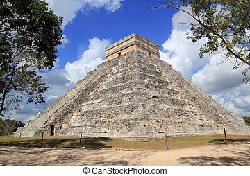 itza, chichen, 古代, メキシコ\, mayan, ピラミッド, 寺院