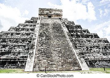 itza), chichen - itza, castillo, kukulcan, ピラミッド, mayan, メキシコ\, el, (chichen