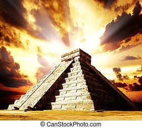 itza, chichen, mayan, piramide