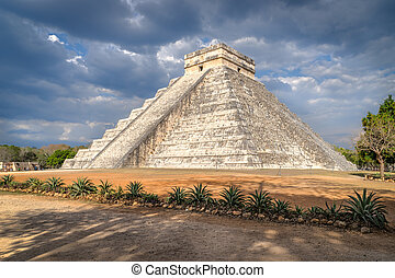 itza, chichen, mexico., castillo, el