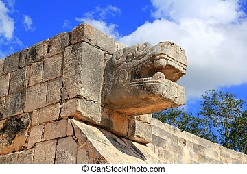 itza, chichen, mexique, maya, yucatan, serpent, ruines