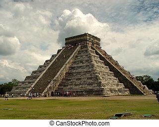 itza, chichen, pyramide