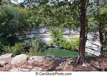 itza, chichen, sagrado, mexico., cenote, yucatán