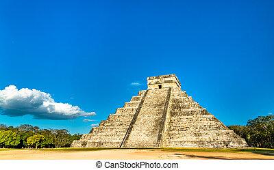 itza, el, piramide, messico, chichen, kukulkan, castillo, principale, o