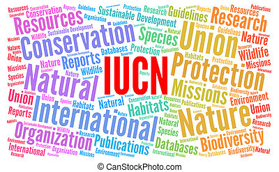 IUCN word cloud illustration