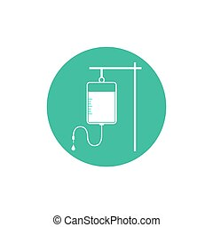 IV bag icon. Vector illustration, flat design.