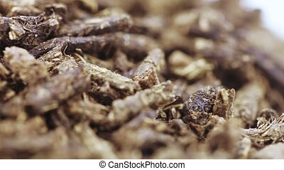 Ivan-tea is fermented - A pile of fermented tea with mint...