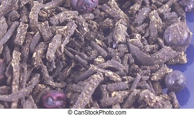 Ivan-tea with currant - Dried fruits of currants with...