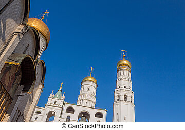 Ivan the Great's Bell tower in Cathedral square in Moscow Kremlin, Moscow, Russia