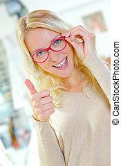 I've found some new glasses
