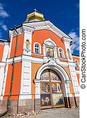 Iversky Monastery in the Novgorod region, Russia. Monastery was founded in 1653