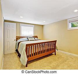 ivoire, confortable, couleur, chambre à coucher, intérieur, doux
