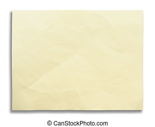 Ivory color paper white isolation