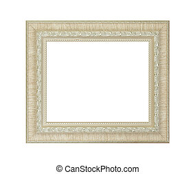 Ivory frame isolated on white background