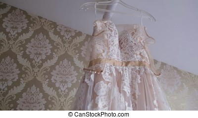 ivory lace dress pastel tone for girl. Beautiful white...
