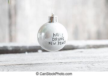 ivre, heureux, nouvelles années