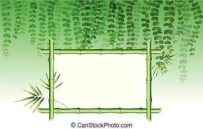 Ivy and bamboo in the framework
