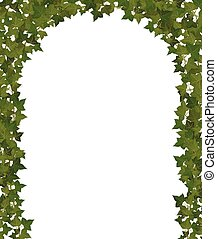 ivy arch - arch of climbing plant vines